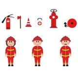 Zajęcie, strażacy Obrazy Royalty Free