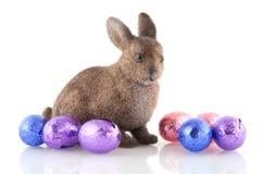 zajęczy Easter czekoladowi jajka zdjęcie royalty free