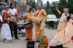 Zajęczy Krishna na ulicach Zajęczy Rama Zdjęcia Stock