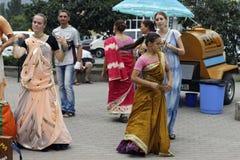 Zajęczy Krishna Zajęczy Rama na ulicach Obrazy Royalty Free