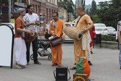 Zajęczy Krishna Zajęczy Rama na ulicach Zdjęcia Stock