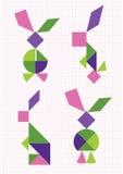 Zając i królików tangram Zdjęcia Stock