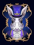 Zając lub królik w kapeluszu od bajki Alice w Wonderla Obraz Royalty Free