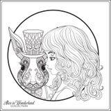 Zając lub królik w kapeluszu od bajki Alice w Wonderla ilustracji