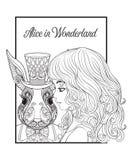 Zając lub królik w kapeluszu od bajki Alice w Wonderla Obrazy Stock