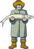 Zajęcie rybak ilustracja wektor
