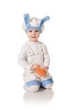 zajęczy dziecko kostium Fotografia Royalty Free
