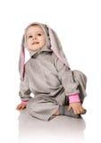 zajęczy dziecko kostium Fotografia Stock