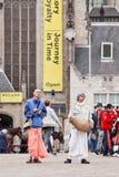 Zajęczy Krishnas przy Grobelnym kwadratem, Amsterdam, holandie Obrazy Royalty Free