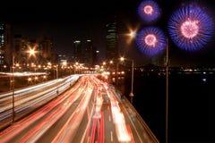 zajęty fajerwerk highway Fotografia Stock