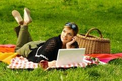 zajęty piknik Zdjęcia Royalty Free