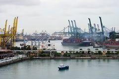 zajęty portu Zdjęcie Stock