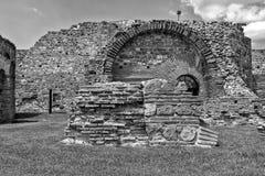 Zajecar Serbien - Juli 09, 2017: Det historiska arkeologiskt Royaltyfri Bild
