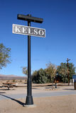 zajezdni Kelso znak Obrazy Stock