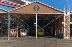zajezdnia tramwaj Fotografia Royalty Free