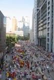 zajmuje ruchu wiec w Hong Kong Fotografia Royalty Free