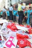 zajmuje ruchu wiec w Hong Kong Zdjęcie Stock