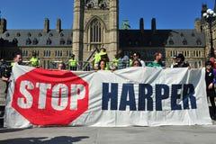 Zajmuje w Ottawa protestacyjną rocznicę, Kanada Fotografia Royalty Free