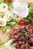 zakąski jajek świeżego mięsa mozzarella Zdjęcie Royalty Free