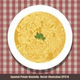 zakąski omelette kartoflany spanish typowy Typowy Hiszpański ` Tortilla ` Zdjęcie Royalty Free