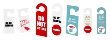 zakłóca robi nie drzwi znakom ilustracja wektor