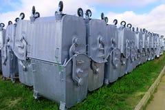 Zakładów przetwórczych gruzy zamkniętej zbiorników ekologii środowiskowe śmieciarskie pokrywkowe sprawy Fotografia Stock