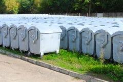 Zakładów przetwórczych gruzy zamkniętej zbiorników ekologii środowiskowe śmieciarskie pokrywkowe sprawy Obraz Royalty Free