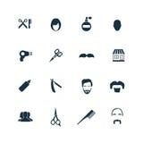 Zakład fryzjerski ikony ustawiać Obraz Stock