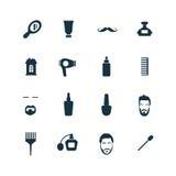 Zakład fryzjerski ikony ustawiać Fotografia Stock