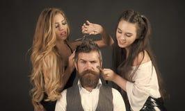Zakład fryzjerski, moda, piękno, modniś obraz royalty free