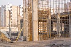 Zakładać budujący budynek Obrazy Royalty Free