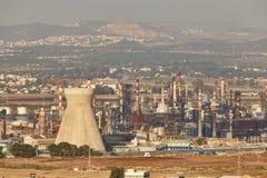 Zakłada się Zikuk fabrykę w Haifa, powietrzna panoramiczna fotografia Zdjęcie Stock