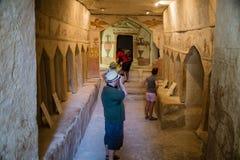 Zakładu Guvrin Sidonian grzebalnej sala ściany szczegół, Izrael zdjęcie royalty free