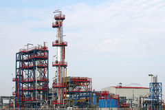 Zakładu petrochemicznego przemysł paliwowy Fotografia Royalty Free