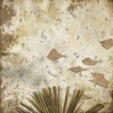 Zakłopotany Abstrakcjonistyczny kolażu tło listy Scrapbook - Latający papier - Writing - ilustracja wektor