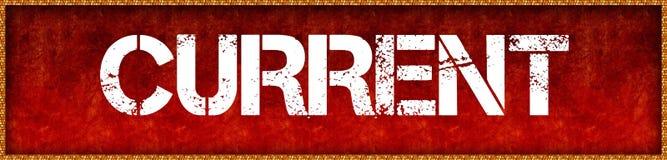 Zakłopotany chrzcielnica teksta prąd na czerwonym grunge deski tle royalty ilustracja