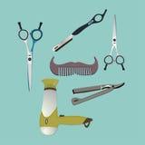 Zakładów fryzjerskich elementów przedmioty Obrazy Stock
