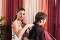 Zakład fryzjerski Zdjęcia Stock