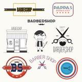 Zakład fryzjerski odznaki i elementy Zdjęcie Royalty Free