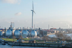 Zakład odsalania w Hamburg porcie Zdjęcie Royalty Free