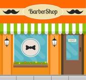 Zakładu fryzjerskiego budynku przód Zdjęcie Stock