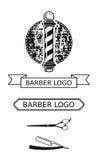 Zakładu fryzjerskiego salonu loga elementy Obrazy Royalty Free