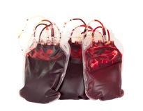 Zak bloed Stock Foto's