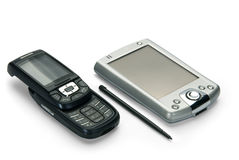 Zak en mobiel. Royalty-vrije Stock Fotografie