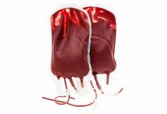Zak geïsoleerd bloed en plasma royalty-vrije stock afbeelding