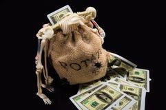 Zak geld Royalty-vrije Stock Foto