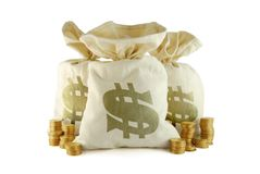 Zak geld Royalty-vrije Stock Afbeeldingen