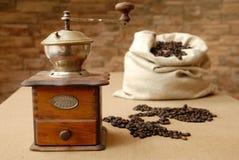 Zak koffie Stock Fotografie