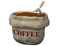 Zak koffie Stock Foto