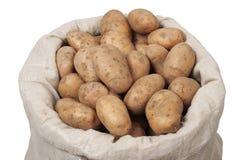 Zak met Aardappels Stock Afbeelding